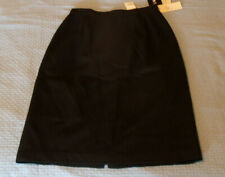 "NEW Petite Sophisticates Black Fully Lined Skirt Womens 6 NWT 33"" Length"