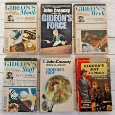Collection 6 Vintage Crime Paperbacks Gideon Series by J J Marric  KG140