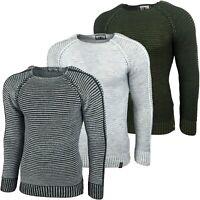 Kickdown Herren Pullover Grobstrick Langarmshirt Sweatshirt Strickpullover 17007