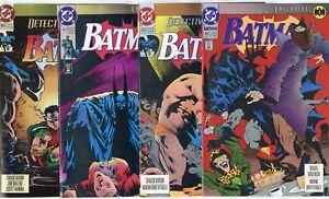 Batman - Detective  Knightfall #1 - 19  Complete Set  avg. NM 9.4  DC  1993
