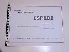 Lamborghini Espada Spare Parts Book Manual Catalogue OEM