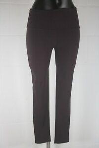 WG88 Mint Velvet Burgundy Straight Leg Leggings Size Small