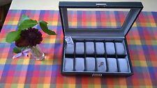 SAFE 73629 Uhrenkoffer schwarz für 12 Uhren I B Ware
