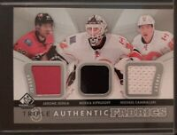 2012 - 2013 SP Game Used Triple Authentic Fabrics #AF3-IKC Hockey Card