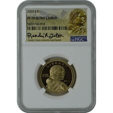 2003-S Sacagawea NGC PF70 Proof Coin Randy'L Teton Authentic Signature
