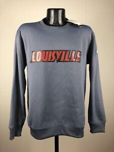 Men's Adidas Climalite Louisville Cardinals Gray Sideline Crew Sweatshirt 2XL