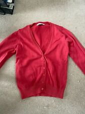 Red M&S Cardigan age 7-8