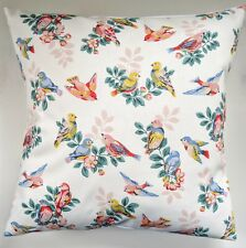 """Shabby Chic Cushion Cover in Cath Kidston Spring Birds 16"""""""