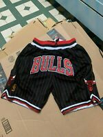 Chicago Bulls Just Don Pinstripe Black Team Mens Basketball Shorts
