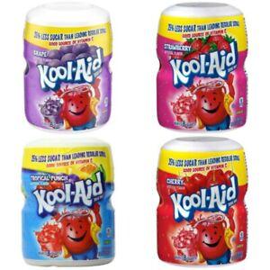 Kool Aid Drink Mix Powder Makes 8 Quarts (19oz) 538g - Various Flavours