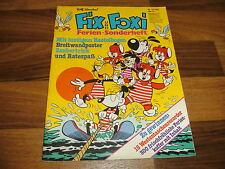 FIX & FOXI FERIEN-SONDERHEFT 12/1981 -- mit BASTELBOGEN+RIESENPOSTER