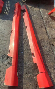 FORD FIESTA MK7.5 2014 ST180 O/S AND N/S SIDE SKIRTS IN MOLTEN ORANGE USED ITEM