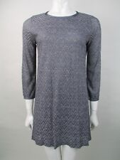 M Missoni 3/4 Sleeve Zig Zag Metallic Dress Size S UK 8