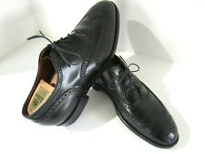 Alden Wingtip Brogue Balmoral Dress Shoes Mens 11 D Black Leather 9741 Oxford