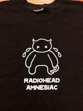 Vintage Radiohead Amnesiac 2001 Black Tee Shirt RARE Capitol Records promo