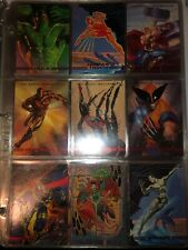 1993 Marvel Masterpieces 1-90 Card Complete Base Set Deadpool Venom Avengers