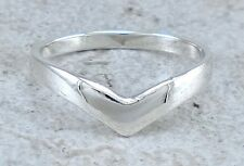 CUTE 925 HIGH POLISH STERLING SILVER CHEVRON RING size 8   style# r2411