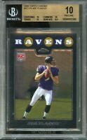 2008 topps chrome #tc170 JOE FLACCO baltimore ravens rookie (PRISTINE) BGS 10