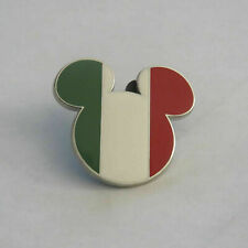 Disney Flag Italy Mickey Head Pin
