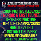 League of Legends Account LOL EUW EUNE Unranked Lvl30 All Champs Smurf Skins Acc <br/> #1 eBay Seller | Handleveled | 3+ years inactive!