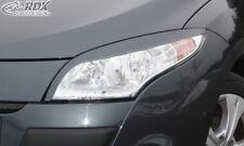 RDX Scheinwerferblenden schwarz matt für RENAULT Megane 3 2008-2013