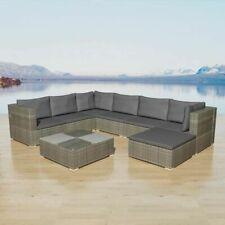 vidaXL Loungeset Poly Rattan Grijs 24-delig Buiten Tuin Lounge Set Stoel Tafel