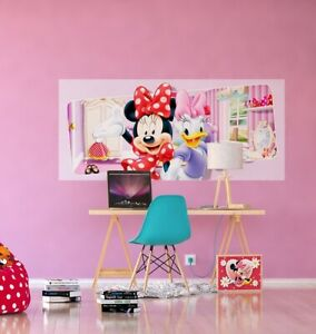 Wandbild Tapete Minnie Mouse 202x90cm Kinderzimmer Groß Plakat Groß