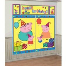 Amscan Bb670436 Peppa Pig Scene Setter 5 Total Pieces
