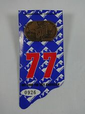 1996 Indianapolis 500 Bronze Pit Badge w/ Back Up Card Buddy Lazier Hemelgarn