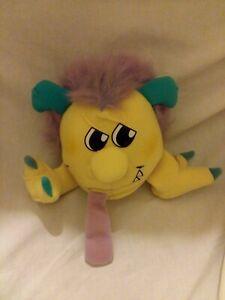Vintage 1986 Matchbox Toys Razzcals Yellow Purple Monster Plush