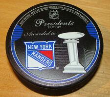 2015 Nhl Hockey Souvenir Puck Presidents Trophy Winner New York Rangers Best