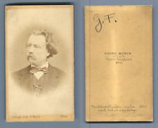 Munck, Wien, homme à identifier Vintage albumen  Carte de Visite, CDV,  Tirage