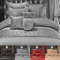 Luxurious Embroidery Duvet Cover Set Single Double Super King Luxury Bedding Set