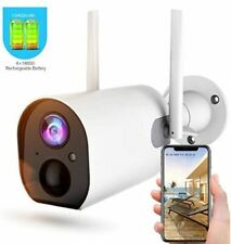 Wireless Outdoor Security Camera, Rechargeable Battery-Powered Home Security WiF