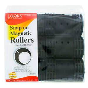 Snap On Magnetic Rollers Curler Hair Wave Set Large Jumbo Medium Small Size