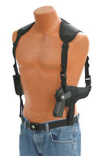 Horizontal Deluxe Shoulder Holster Auto Ordnance 1911 Double Mag Holder Ambidex