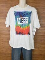 NEW Neff Worldwide White Graphic T-Shirt Mens Size XL NWT