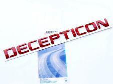 1x Origianl Red DECEPTICON EMBLEM Badge Letter 3D for F150 Silverado Tundra Lu