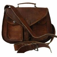 Women's Briefcase Bag Ladies Crossbody Satchel Genuine Leather Shoulder Purse