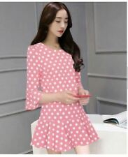 SALE MINI DRESS (JLH) PINK POLKA DOTS