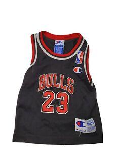 Michael Jordan Chicago Bulls Toddler Jersey Champion Vintage NBA Black Size 2T