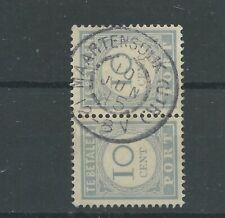 """Nederland P55 paartje """"MAARTENSDIJK (UTR.) 1915"""" grootrond VFU/gebr  CV 10+ €"""