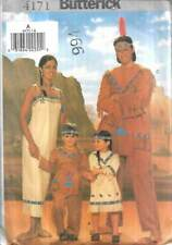 4171 BUTTERICK COSTUMES CHILD,WOMEN'S & MEN'S INDIAN COSTUMES