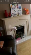 cream micro marble fire place used