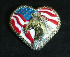 "Western Lodge Cabin Kitchen Decor 1 1/2"" Horse N Heart Concho Drawer Pulls (6)"