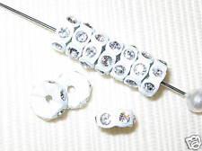 20 Swarovski Rondelles 6mm White / Crystal -  SR632