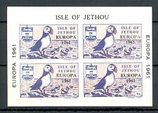 LOCAL ISLE OF JETHOU 1 BLOCK  EUROPE 1961  **   MNH VF  PUFFIN