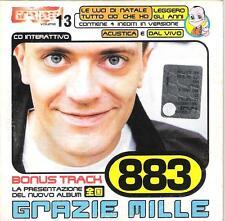 """883 MAX PEZZALI - CDs PROMO TRIBE """" GRAZIE MILLE """" TRACCIA ROM + VIDEO + AUDIO"""