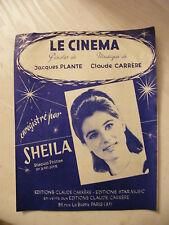 Partition Le Cinéma Sheila Claude Carrere