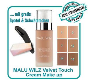"""Malu Wilz """"Teint"""" Velvet Touch Foundation in 6verschiedenen Farben 30ml &2PROBEN"""